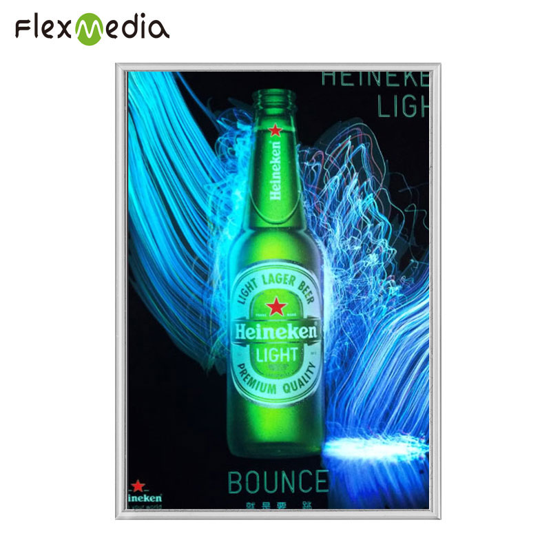 2018 Top Brand Custom El Backlight Advertising Flashing Light Poster Display Light Up El Panel