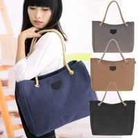 2018 most popular korean style wholesale large linen flax beach tote bag