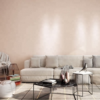 Home Tempaper Pink Removable Grasscloth Wallpaper Pvc Textured Wall Coating