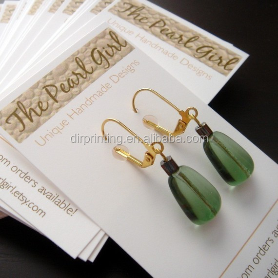 Custom Printed Jewelry Cards Hanging Earring Card Tags Made Hang Product On