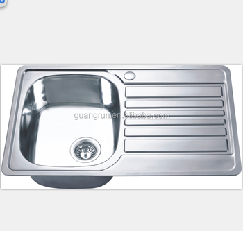 Stainless Steel Single Bowl Kitchen Sink With Drainboard Gr 780 View Stainless Steel Kitchen Sink With Drainer Guangrun Product Details From Ningbo Guangrun Kitchen And Bathroom Co Ltd On Alibaba Com