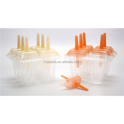 clear plastic ice lolly mould wtih stick