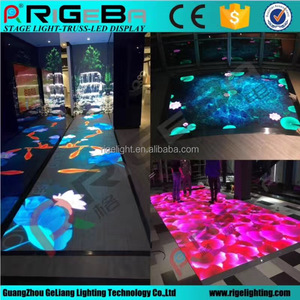 New LED display stage lighting p6.25 interactive screen for kids game playing video dance floor portage stage