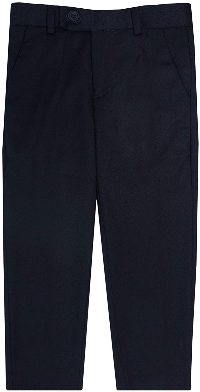Leo & Zachary Boys Adjustable Waist Slim Fit Dress Pants - LZ508