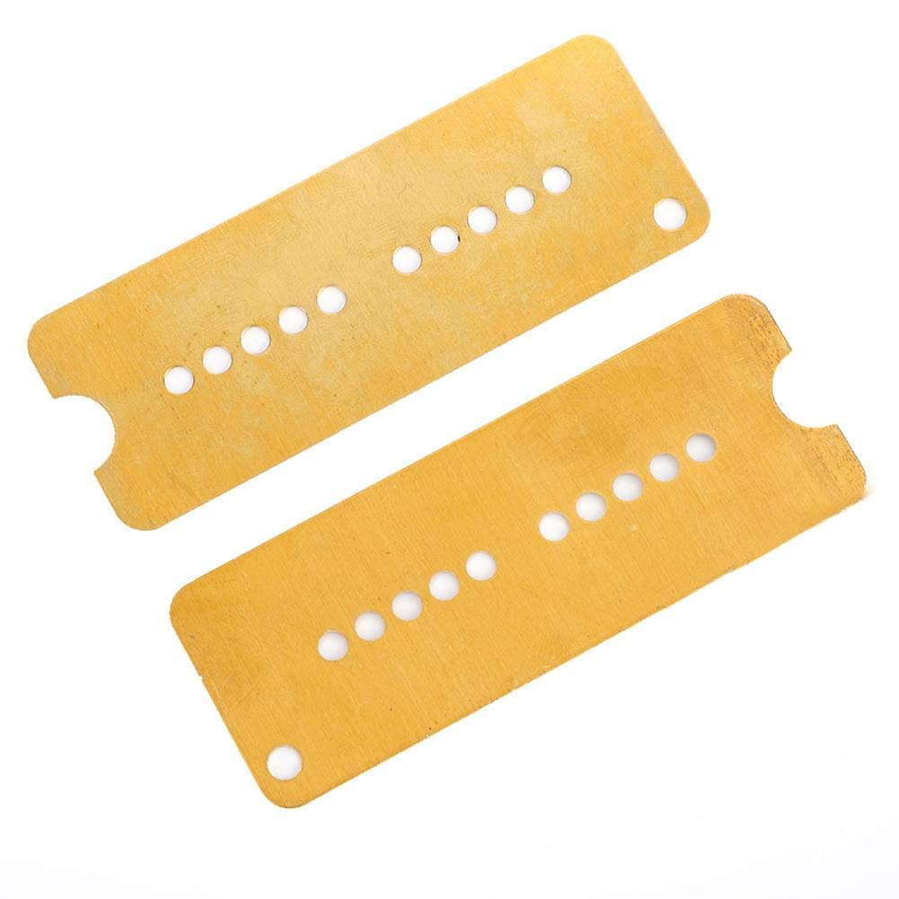 2Pcs Pickup Baseplate, Brass Electric Guitar Humbucker Pickup Base Plate for P90 Pickup