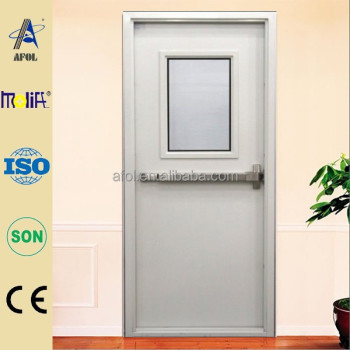 Zhejiang Afol Certificate Fire Rated Steel Door With Vision Glass