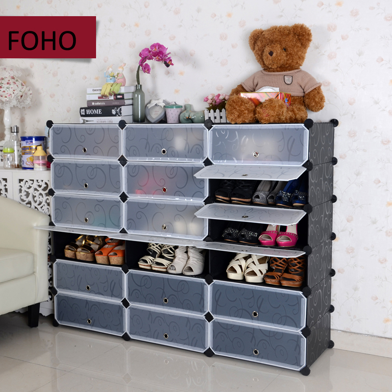 Modern Stackable Plastic Magic Clear Cube Storage With Doors