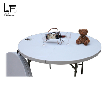 Ronde Eettafel Te Koop.Goedkope 4 Voeten Hdpe Plastic Ronde Opvouwbare Banket Eettafel Voor