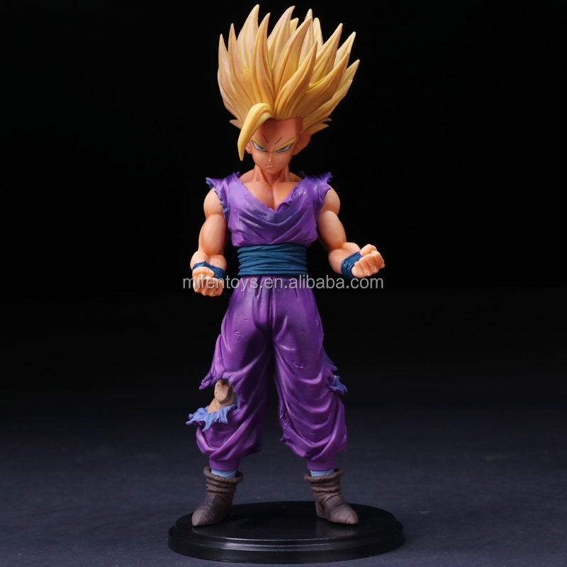 24 cm Anime Dragon Ball Z Super Saiyajin Son Gohan Figuras de Ação Estrelas Master Piece Dragonball Estatueta Collectible Toy Modelo