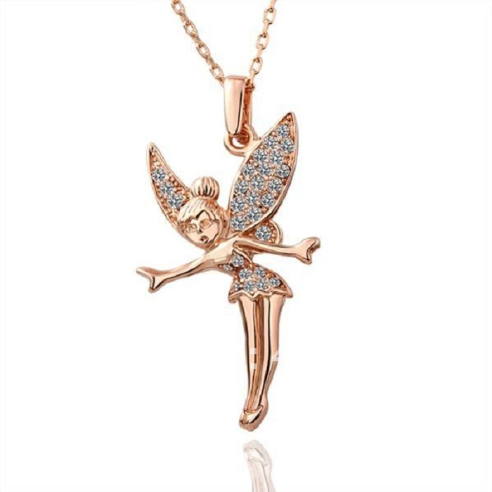 """925 STERLING SILVER  DESIGNERS /""""TINKER-BELL  /"""" PENDANT  NECKLACE //TOP QUALITY"""