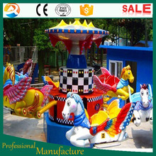 Luna Park / Amusement park popular family ride jump flying horse ride for sale