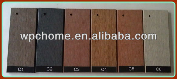 Balcony Flooring Wood Plastic Decking,wood Look Exterior Wood Panel,wpc  Decking With Hot
