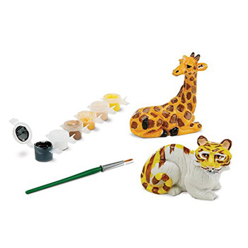 Ceramic decorate your own figurines dinosaur toys with brush and paint