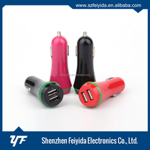 Provides maximum charge speed 5V/ 2100mA cell phone usb car charger