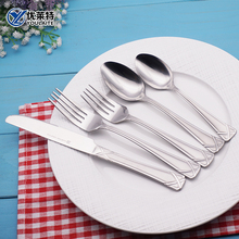 Stainless Steel Hand Forged Flatware 8 Piece Cutlery Set With Flat Designed Handle