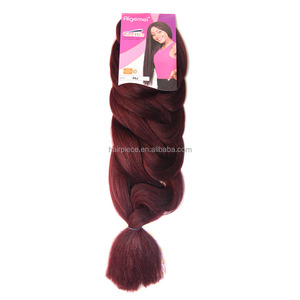 Black Rose Wholesale Two Colored Jumbo Braid 100 Cheap Synthetic Braiding Hair for Black Women