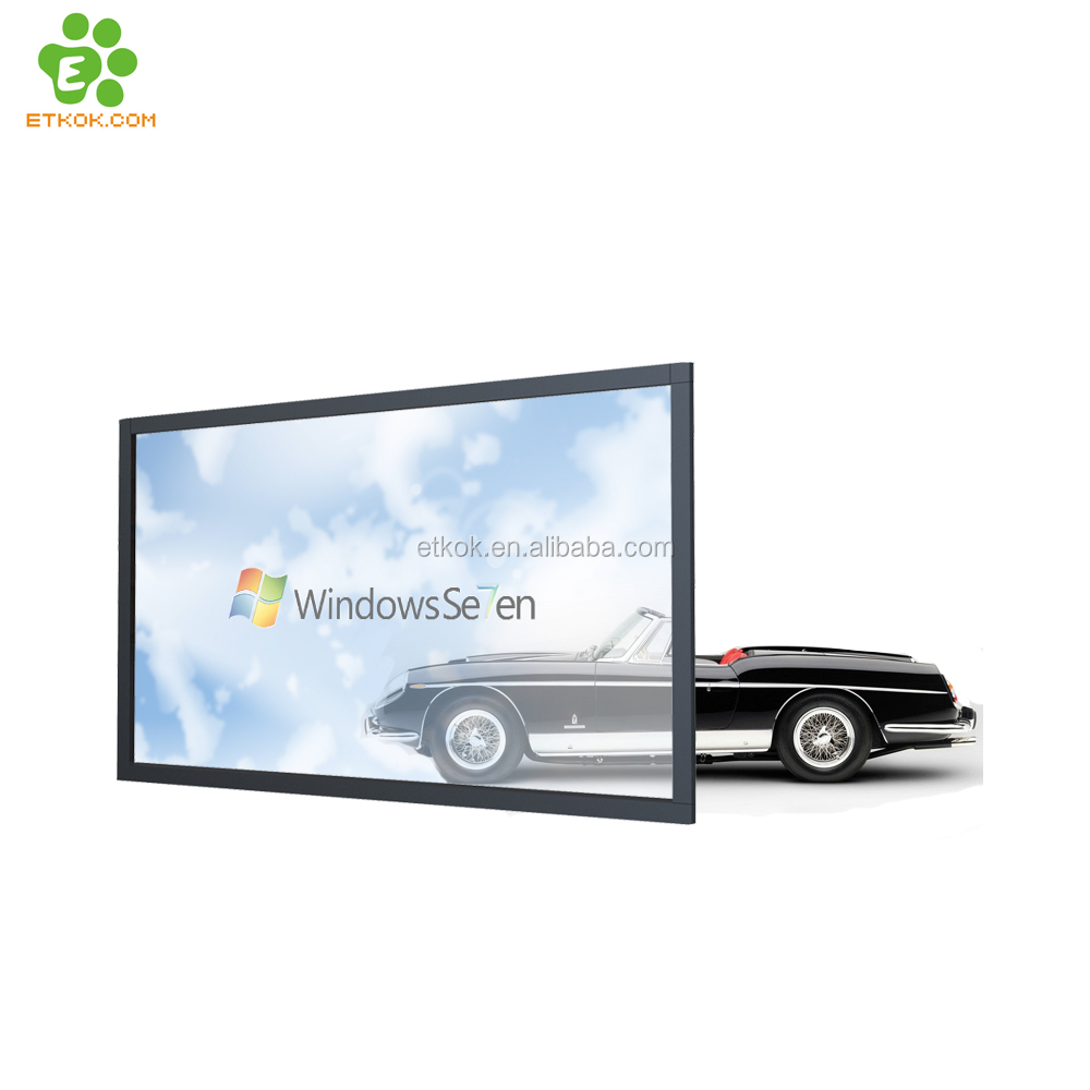 2017 hot sale 55 inch transparent lcd touch <strong>screen</strong> with IR touch frame for exhition