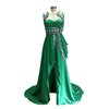 2018 Dubai Styles Evening Dresses Long Gowns Ladies Formal Dresses with Jacket Split and Beading