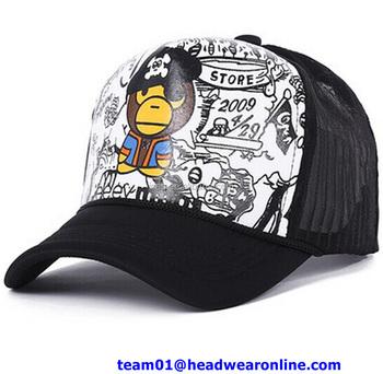 Custom promotional wholesale caps promo baseball trucker hats with  sublimation logo bf77e77ae30