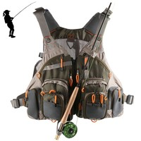 High Quality New Design Adjustable Mesh Fly Fishing Vest For Daily Use
