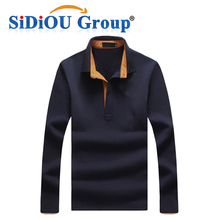 Design Mixed Color Long Sleeve Polo T Shirt for Men