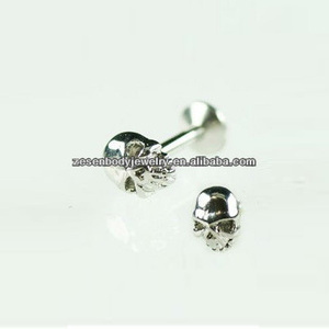 Surgical Steel Unique Lip Studs Cool Skull Free Labret Lip Rings Body Piercing Jewelry