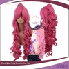 Long Curly Fashion VOCALOID Luka Cosplay hot Pink Wigs