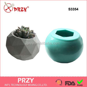 S3354 vase moulds 3d silicone soap molds whole sell planters and vase handmade soap mold