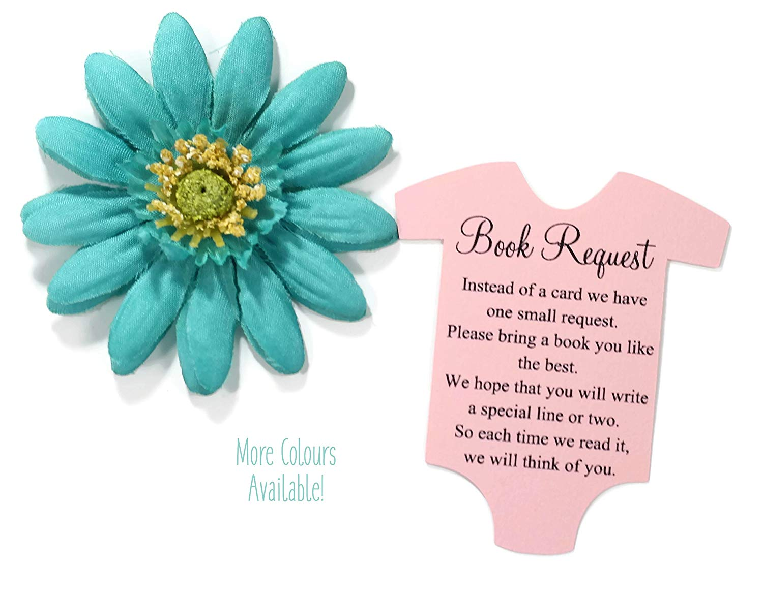 Baby Girl Book Request Cards for Baby Shower Invitations (Set of 20)