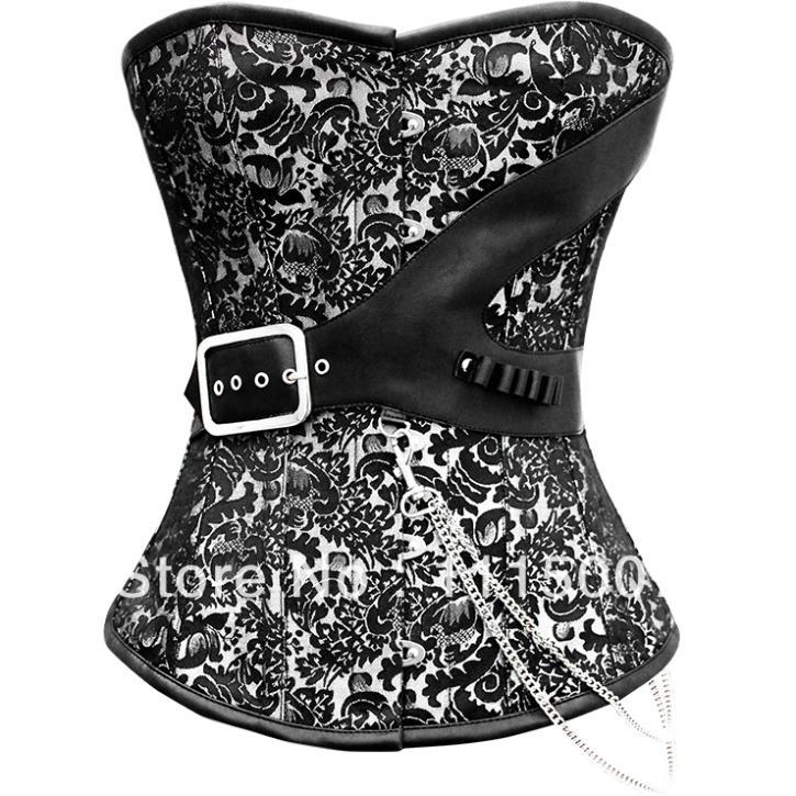 e0c6649a33 Get Quotations · Sexy Brocade Steampunk Steel Boned Corset