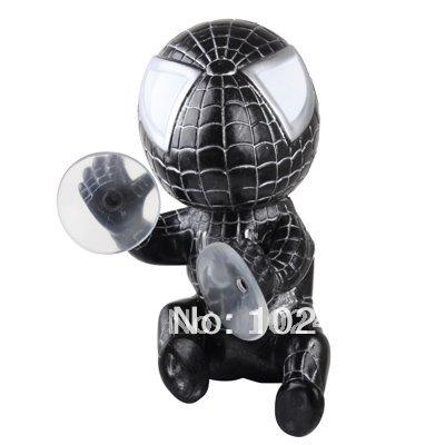 Окна автомобиля присоски человек паук игрушка кукла ( черный )
