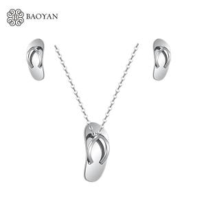 BAOYAN Stainless Steel Jewelry Set Chino Quirurgico Joyas de Acero Inoxidable SSNEG126-4415YY