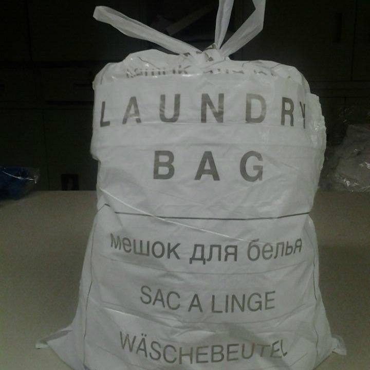 Ecologische plastic waszak voor hotel