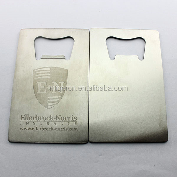Brass Carbon Fiber Credit Card Sized Bottle Opener