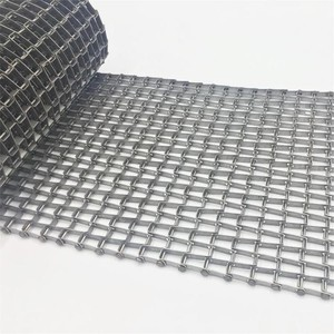 Stainless steel wire honeycomb mesh conveyor belt for food industry