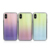 Gradient Tempered Glass Phone Case Laser Cover for iPhone X/XS