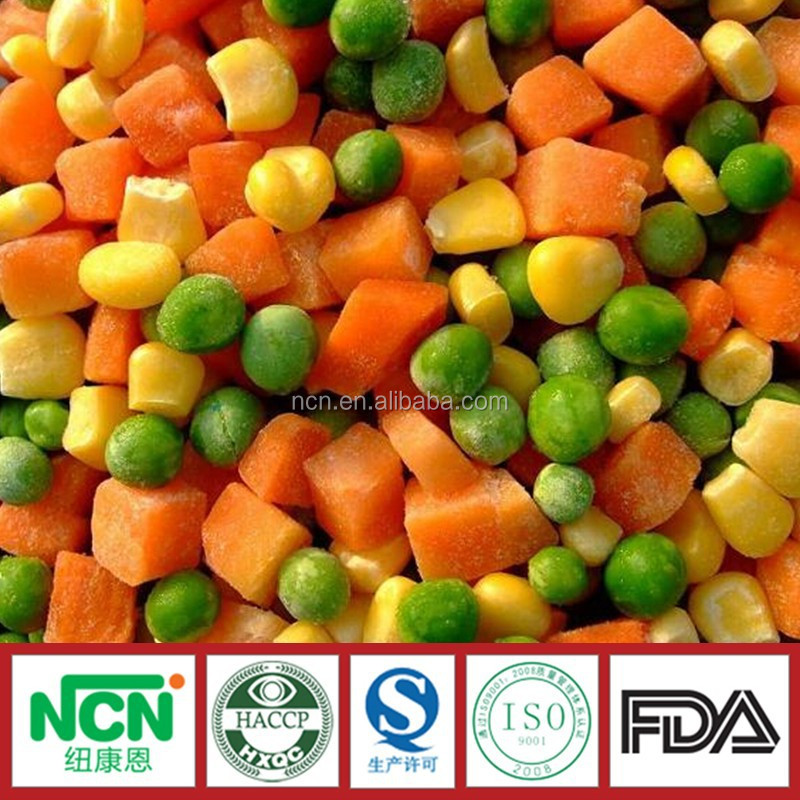 Iqf Green Pea,Sweet Corn Kernel,Carrot Mixed Vegetable