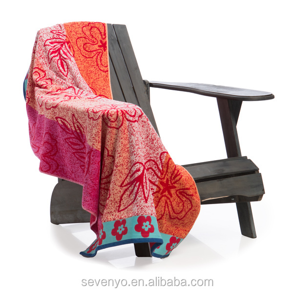 Hibiscus Velour jacquard salon towels wholesale BT-165