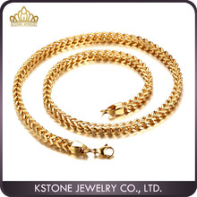 KSTONE Dubai new gold chain design for men stainless steel gold plated link chain necklace