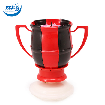 CE Trophy Football Cup Magic Birthday Candles That Play Music 4PCS Per Carton CAKE DECORATION