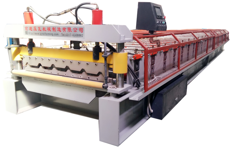 Aluminum Zinc trapezoidal sheet metal Color Steel Sheet Coil Roof Tile Roll Forming Machine