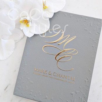 Cocostyles Bespoke Elegant Blind Embossing Wedding Invitation Card With Gold Foiling For Church Wedding View Blind Debossing Wedding Invitation