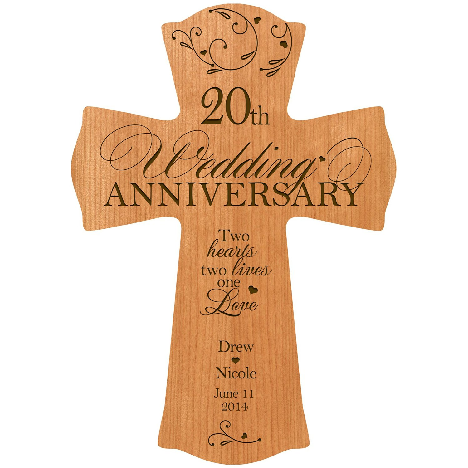 Personalized 20th Wedding Anniversary Wood Wall Cross Gift for Couple 20 year Anniversary Gifts for Her  sc 1 st  Alibaba.com & Buy Personalized 20th Wedding Anniversary Wood Wall Cross Gift for ...
