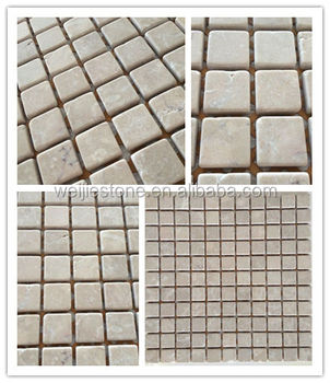 Mosaic Tile Sheets Dark Beige Marble Kajaria Wall Tiles