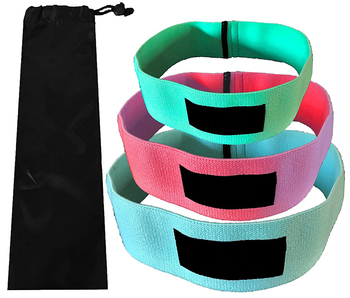 Workout Hip Resistance Bands Set of 3 (low, medium and heavy) Hip Bands for Booty Building Warm-up Booty Bands for Activation