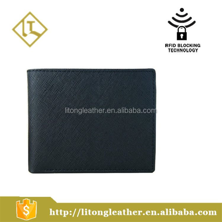 RFID Blocking Leather Wallet Men Excellent Travel Bifold Credit Card Protector