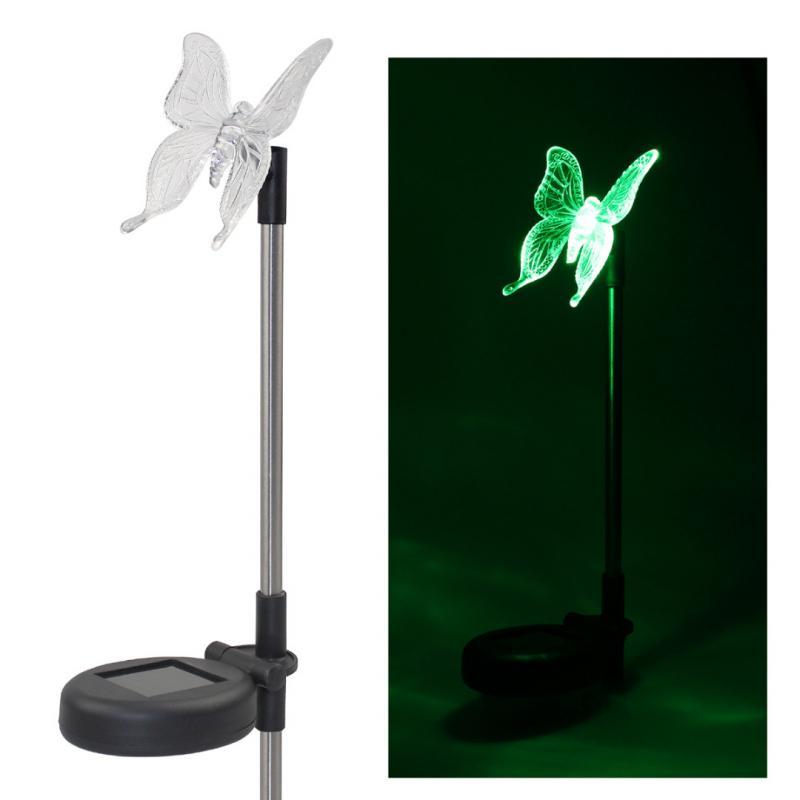 solar led path light butterfly shape decorative lamp party outdoor garden lawn landscape decor. Black Bedroom Furniture Sets. Home Design Ideas
