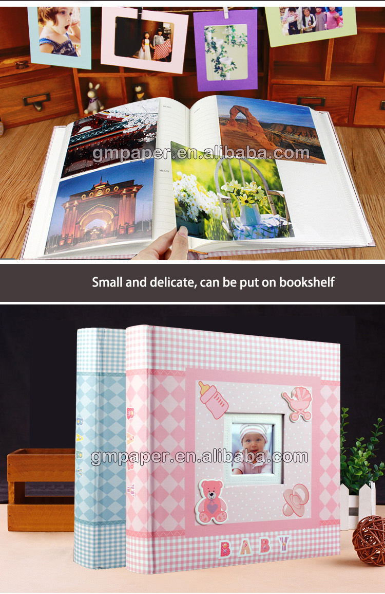 GuanMei Printing photo album 4R 2up Baby Photo Album With Window album 50 Sheets