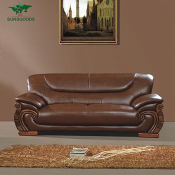Whole Pure Leather Sofa Set Living