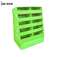 Christmas commodity pop up cardboard display stand, Gifts Pallet Display